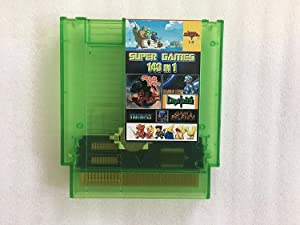 143 in 1 Super Games Multi Cart 8 Bit 72 Pin Transparent Green game cartridge