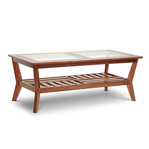 Baxton Studio Kislear Honeyed Veneer Modern Coffee Table