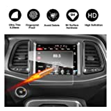 Dodge Challenger Uconnect Touch Screen Car Display Navigation Screen Protector, RUIYA HD Clear TEMPERED GLASS Car In-Dash Screen Protective Film (8.4-Inch)