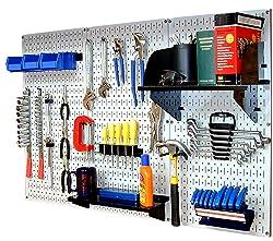 Garage organization unit with wall mount