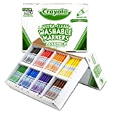 Crayola Broad Line Washable Markers, Classpack Bulk Markers, 200 Count - BIN588200 (Color: Assorted, Tamaño: Marker)