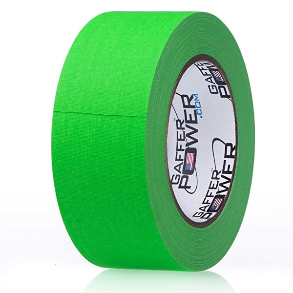 fc8121a947 REAL Professional Grade Gaffer Tape by Gaffer Power - Made in the USA GREEN  FLUORESCENT 2 ...