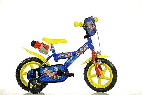 Dino Bikes - 123 GLN-SIP - Vélo pour garçon 12 de 3 à 5 ans - Sam le pompier
