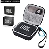 Case for JBL GO 2 JBL GO, Portable Hard Case Protective Cover for JBL GO JBL GO 2 Portable Bluetooth Waterproof Speaker, Mesh Pocket for Charger and Cables