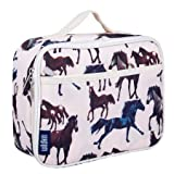 Lunch Box, Wildkin Lunch Box, Insulated, Moisture Resistant, and Easy to Clean with Helpful Extras for Quick and Simple Organization, Ages 3+, Perfect for Kids or On-The-Go Parents – Horse Dreams (Color: Horse Dreams, Tamaño: One Size)