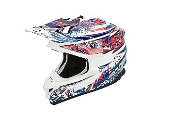 Scorpion vX - 15 aIR hORROR eVO casque-blanc/rouge/bleu