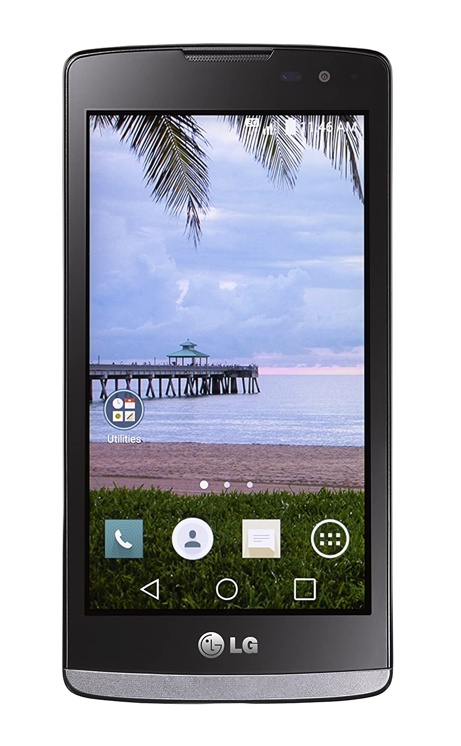 TracFone LG L33L Sunset 4G LTE Android Prepaid Smartphone - Retail Packaging