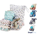 Simple Being Unisex Reusable Baby Cloth Diapers, Washable Adjustable Eco-Friendly (Whimsical) (Color: Whimsical)