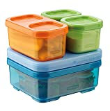 Rubbermaid 1866739 LunchBlox Kid's Tall Lunch Box Kit, Blue/Orange/Green