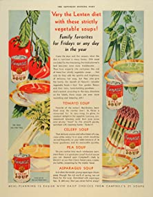 1933 Campbell's Soup Ad Promoting Soups the Lenten Diet