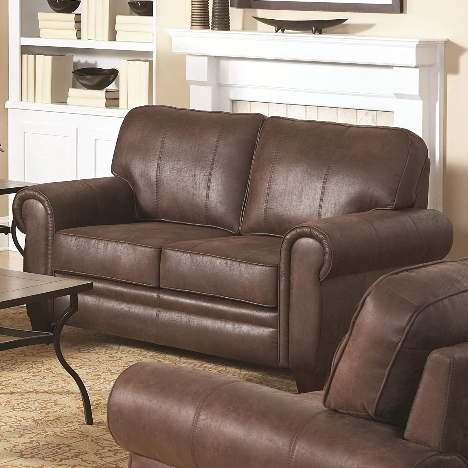 Coaster Home Furnishings 504202 Traditional Loveseat - Brown
