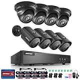 ANNKE H.264+ 8CH Security Camera System 1080P Lite Surveillance DVR and (8) 1.30 Megapixels 960P Weatherproof Camera, Easy Remote View, Smart Playback, Metal Housing-NO HDD