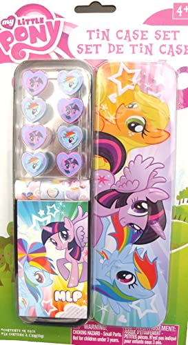 My Little Pony Stationery Pencil Tin Case Set - Stickers, Memo Pad, Erasers and Many More.....