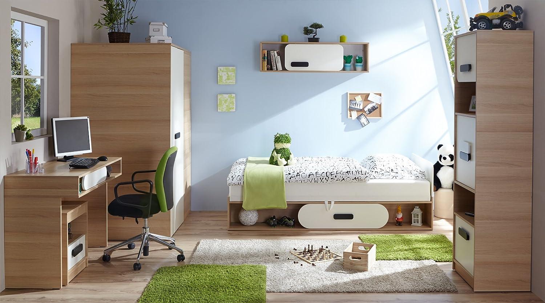 TICAA Jugendzimmer 'Globus' 6-teilig Eiche-Weiß online kaufen