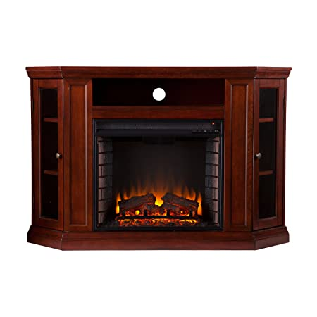 Southern Enterprises Claremont Convertible Media Cherry Electric Fireplace