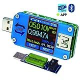 USB Meter, Tester, Multimeter, USB Load, UM25C,Bluetooth Type-c Current Tester, Voltage Detector, DC 24.000V 5.0000A, Test Speed of Charger Cables, Capacity of Power Bank, QC 2.0 3.0 (UM25C)