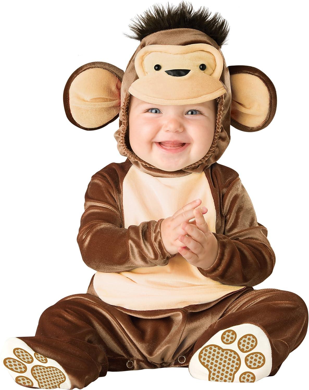 Monkey Costume, Brown/Cream, Small