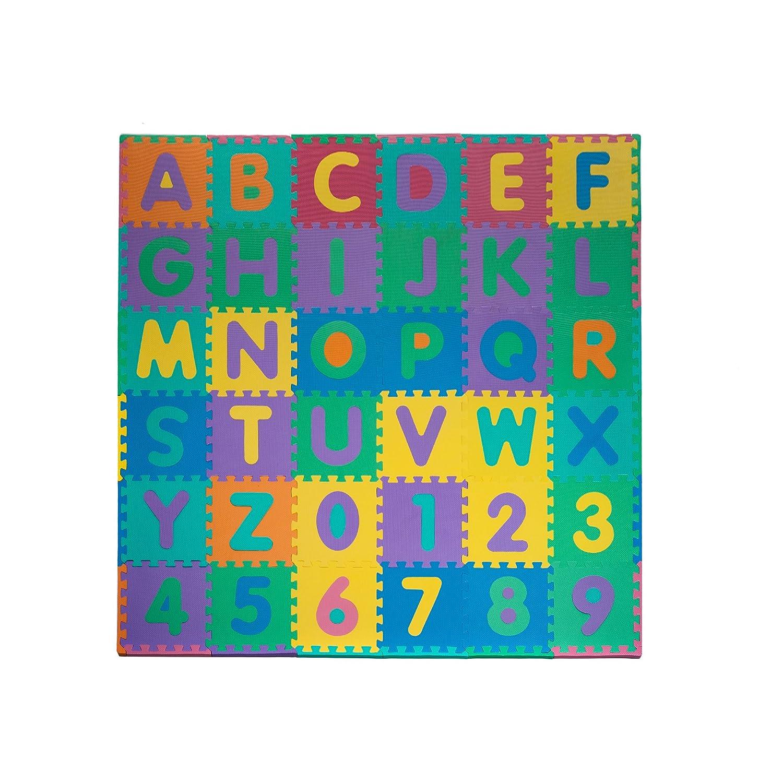 Kids Foam Play Mat 96 Piece Alphabet Number Jigsaw Puzzle