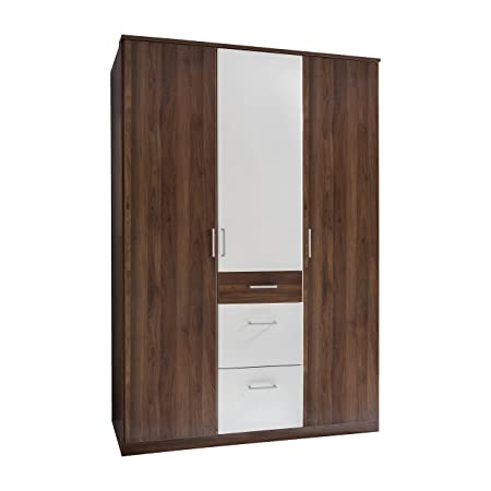 Wimex 131625 Drehturenschrank, Holz, columbia nussbaum/alpinweiß, 58 x 135 x 199 cm