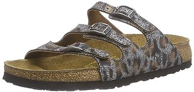 Birkenstock Florida Leder, Chaussures de Claquettes femme