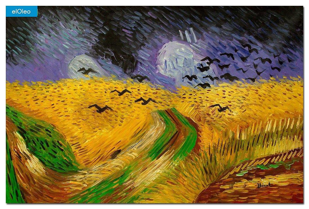 elOleo Vincent van Gogh – Kornfeld mit Krähen 60×90 Gemälde auf Leinwand handgemalt 83317A jetzt kaufen