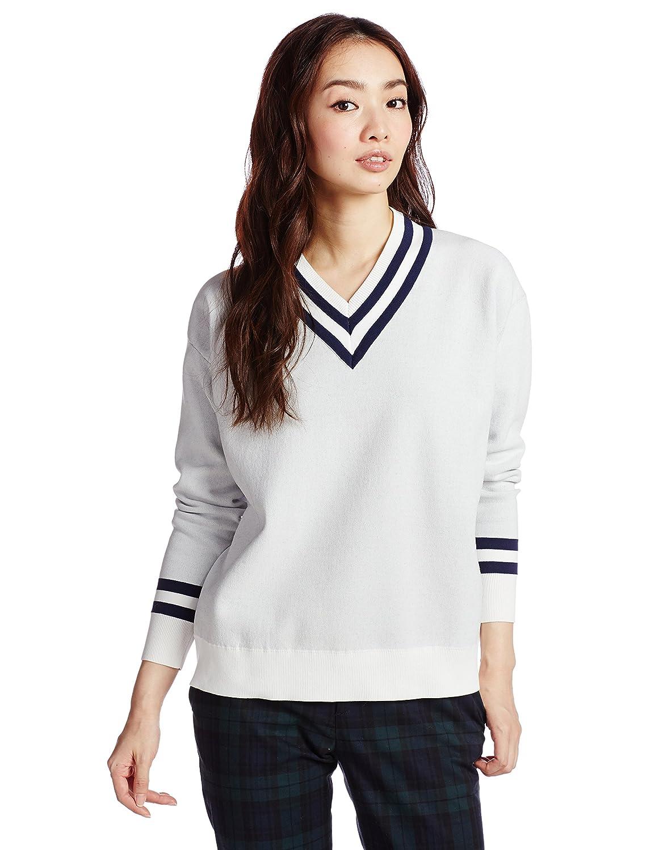 Amazon.co.jp: (リリーブラウン)Lily Brown 33ナンバーリングニット LWNT145159 2 OWHT F: 服&ファッション小物通販