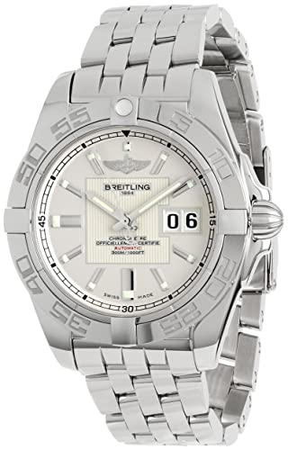 Breitling Men's A49350L2/G699 Galactic 42 Silver Dial Watch