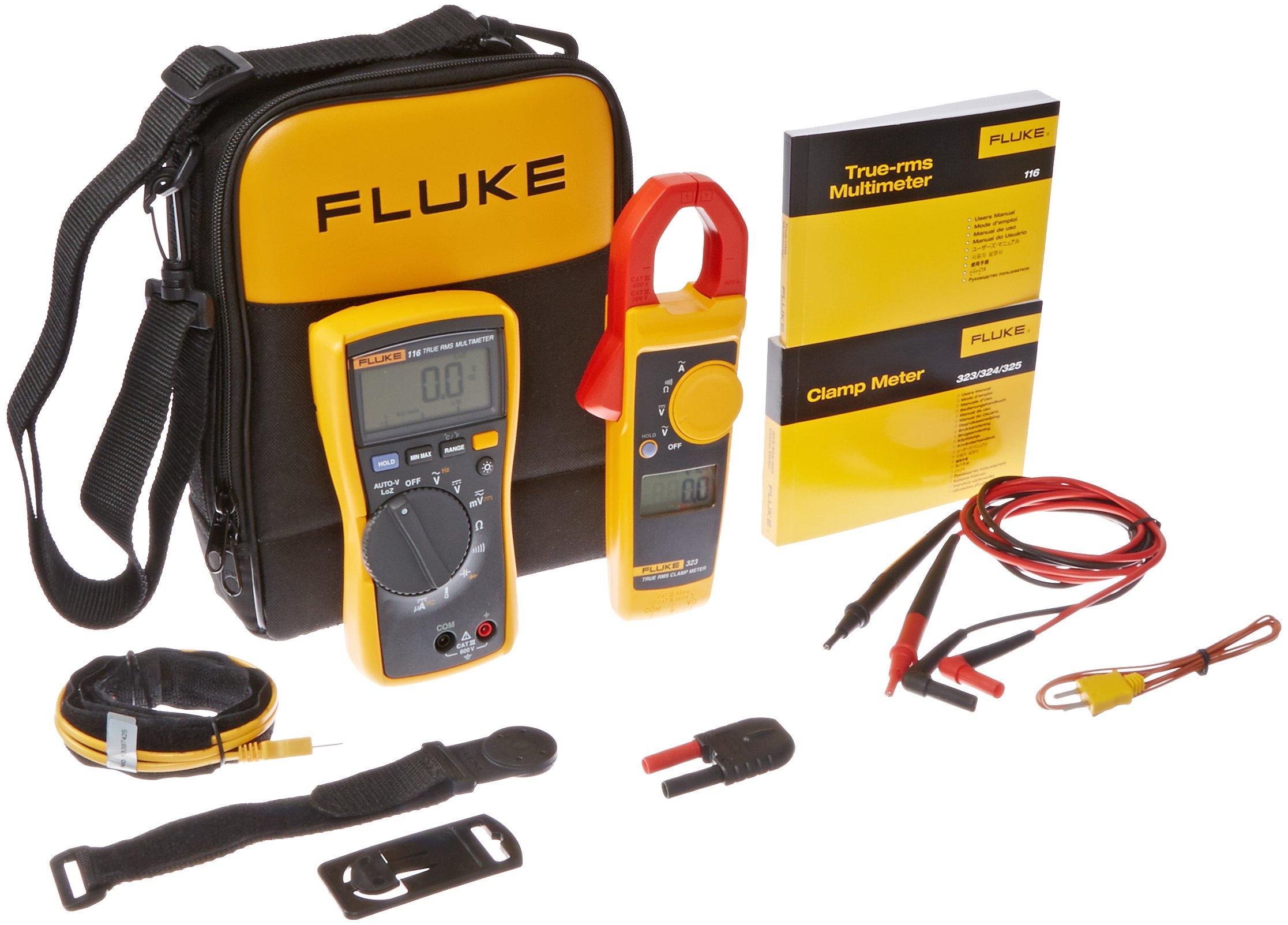 Fluke 323 Clamp Meter Fluke : Fluke kit hvac multimeter and clamp meter