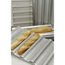 Focus Foodservice Commercial Bakeware 5 Count 18-Inch Perforated Baguette Pan