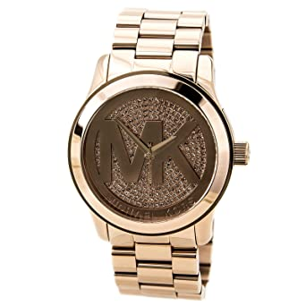 michael kors men 39 s chronograph runway rose gold plated stainless steel. Black Bedroom Furniture Sets. Home Design Ideas