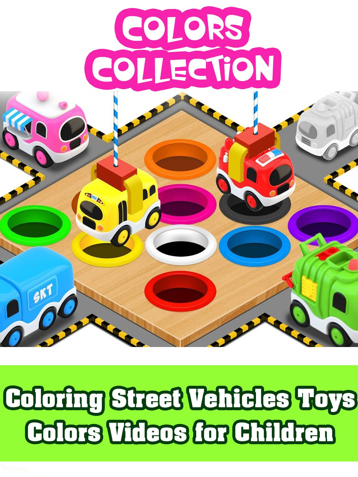 Coloring Street Vehicles Toys