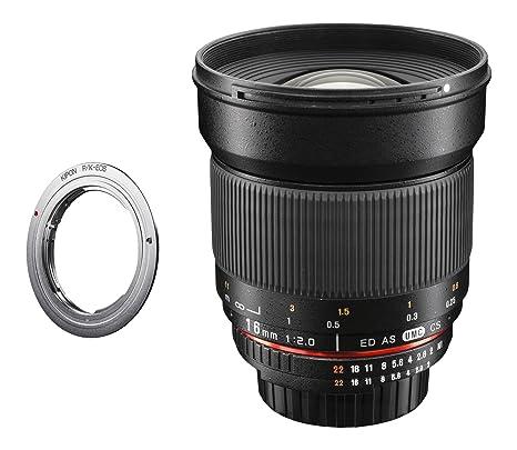 Walimex pro 16/2,0, capuchon d'objectif pour pentax k appareil photo numérique reflex avec adaptateur canon eF