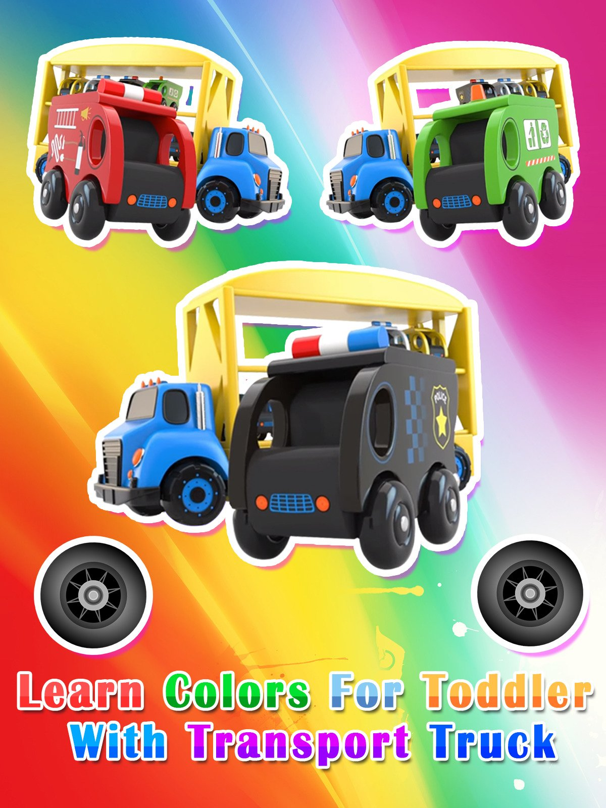 Learn Colors for Toddler with Transport Truck