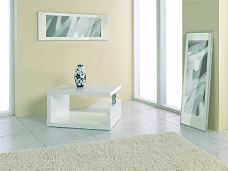 Haku Möbel 86304 Table Basse d'Appoint Blanc 70 x 49 x 38 cm