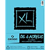 Canson XL Series Oil and Acrylic Paper Pad, Bleed Proof Canvas Like Texture, Fold Over, 136 pound, 11 x 14 Inch, White, 24 Sheets (Color: 0, Tamaño: 11