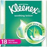 Kleenex Lotion Facial Tissues with Aloe & Vitamin E, Cube Tissue Box, 18 Count