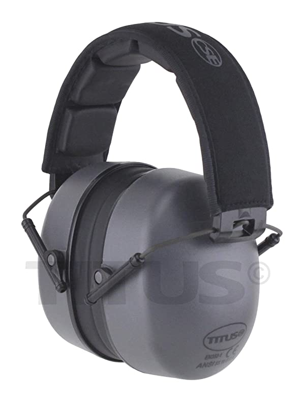 TITUS High Decibel Safety Earmuffs (Standard, Premium - Grey) (Color: Premium - Gunmetal Grey, Tamaño: Standard)