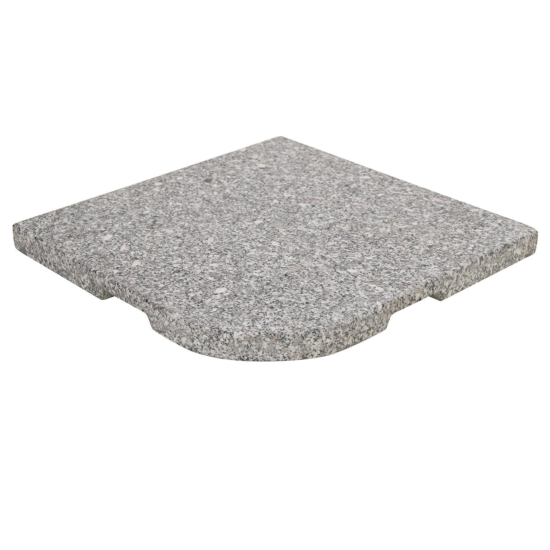 Greemotion Granitplatte 2 Stück zur Beschwerung von Ampelschirmkreuzen, granitoptik, 40x40x3,6cm