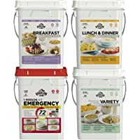 Augason Farms Deluxe Food Variety 4-Pail Kit with Survival Gear
