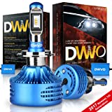 DWVO H7 LED Headlight Bulbs 6.5K 16000Lm Philips Chip Conversion Kit Hi & Lo Beam Super Bright IP68 Waterproof