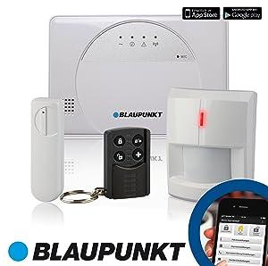 Blaupunkt  SA 2500 Smart GSM Funk Alarmanlage fürs Haus, Steuerung mit Smartphone App (Standard Set 1 x FunkTürkontakt , 1 x FunkBewegungsmelder und 1 x FunkFernbedienung)  BaumarktKundenberichte und weitere Informationen