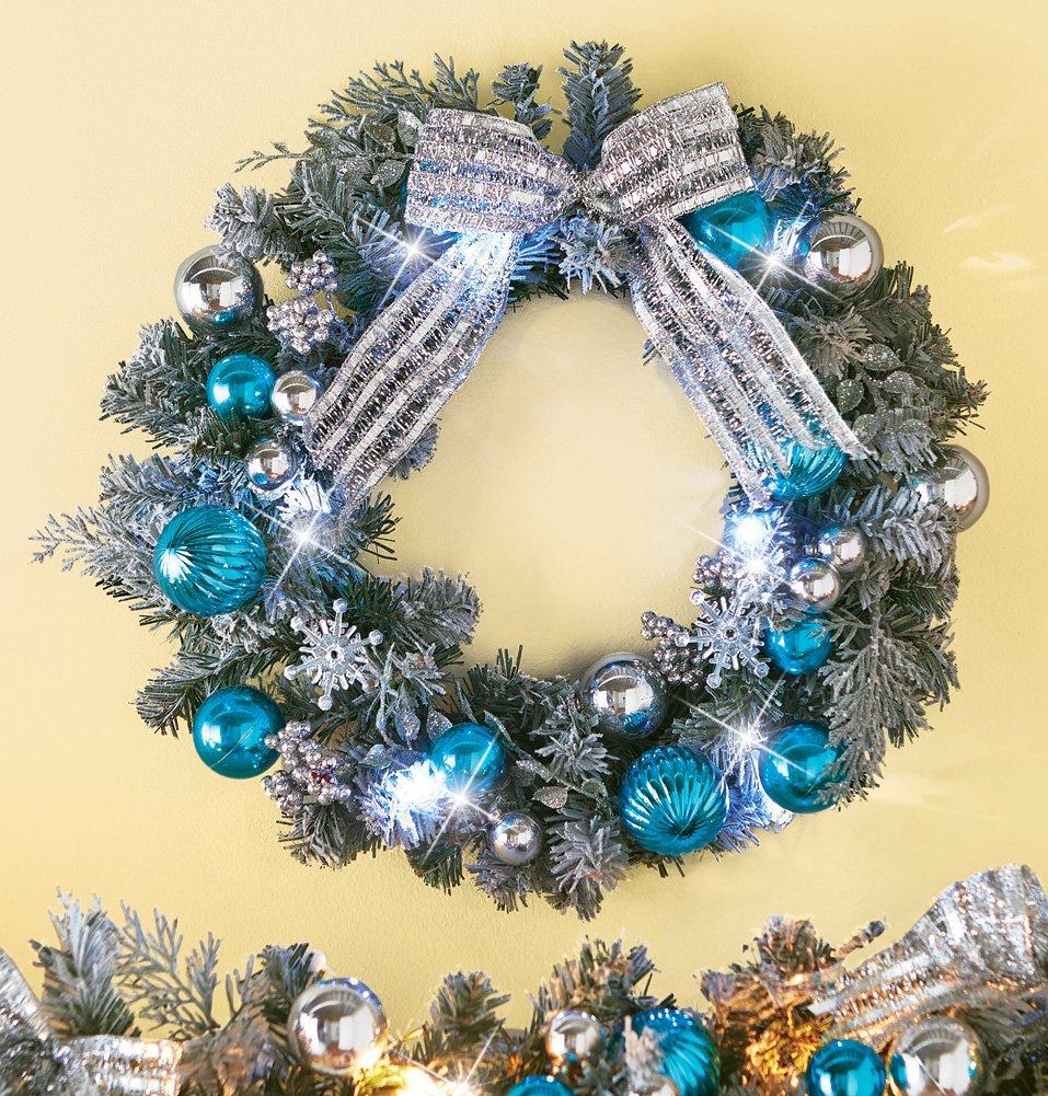 Blue Christmas Wreaths Christmas Wikii