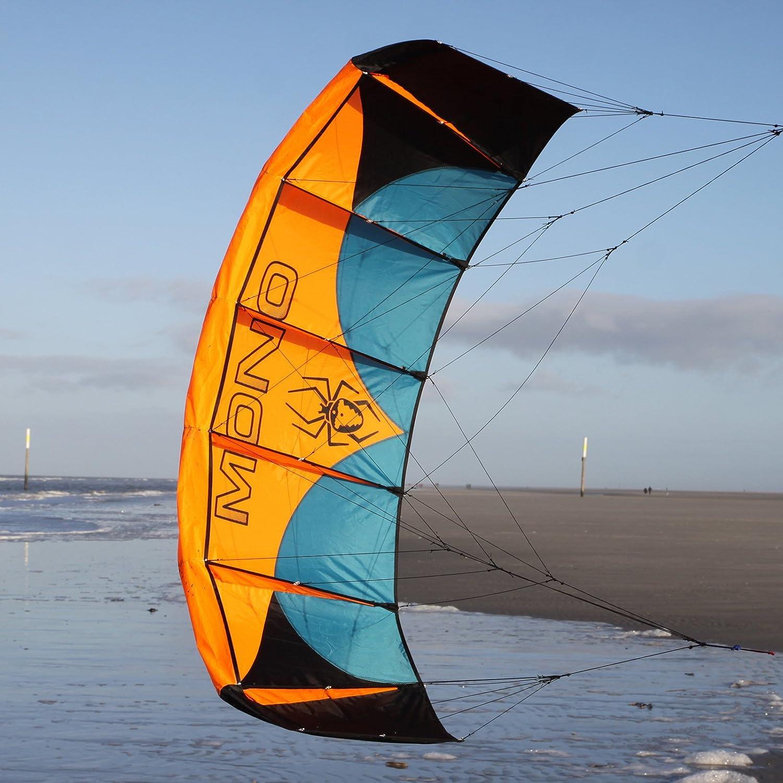 Spiderkites Mono Kite Lenkmatte in vers. Größen (0.8 (175 cm) / 1.3 (225 cm) / 2.0 (295 cm) / 3.0 (380 cm)