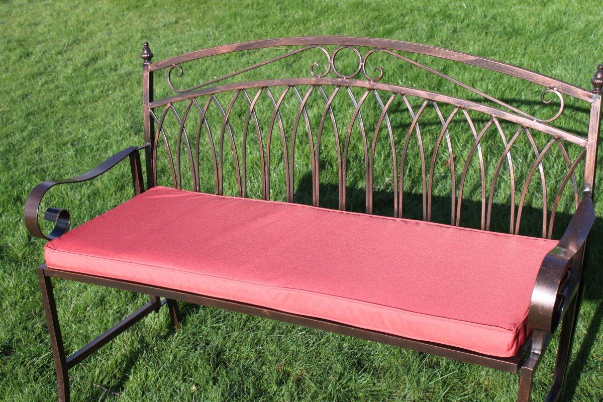 Gartenmöbel-Auflage – Auflage für 2-Sitzer-Metall-Gartenbank in Terrakotta günstig bestellen
