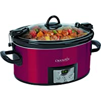 Crock-Pot Programmable Cook and Carry Oval Slow Cooker with Digital Timer (Red)