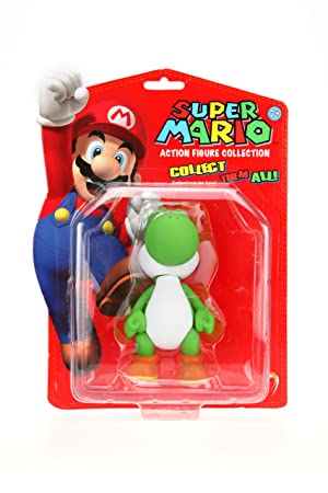 Nintendo 5 inch Classic Mario Brothers Action Figure - Yoshi (Green) [Toy]
