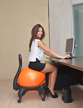 1 kikka active chair chair rose chaise ergonomique for Chaise ballon ergonomique