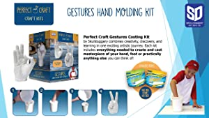 Perfect Craft Gestures Perfect Cast Molding and Casting Kit (Color: White, Tamaño: One Size)