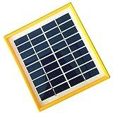JoyTech 1pc 2w 9v 220ma Tempered Glass+yellow Frame Solar Panel Module DIY Polysilicon Solar Epoxy Cell Charger B042
