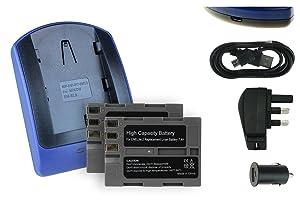 2 Batteries + Charger EL EL3e for Nikon D50 D70 D70sCustomer reviews